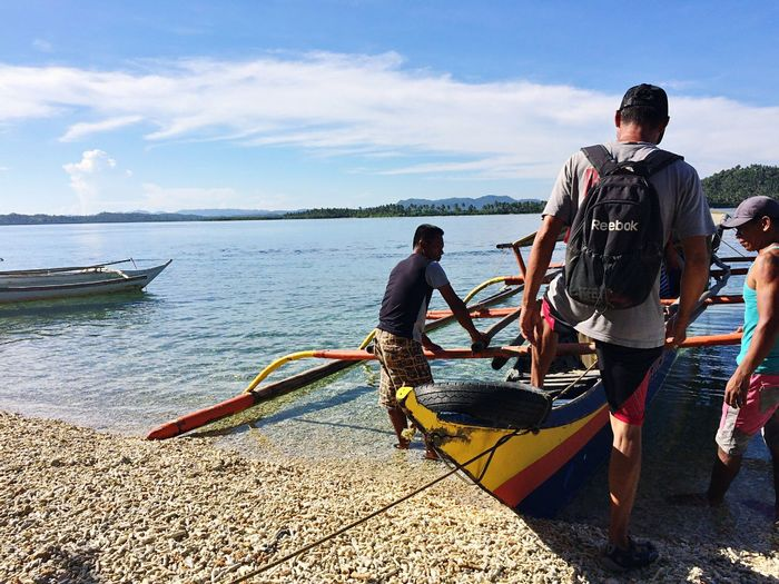 Adventure Nature Nautical Vessel Sea Day Sky Transportation Cloud - Sky Water Outdoors Beach Paradise Philippines Father Let's Go. Together.