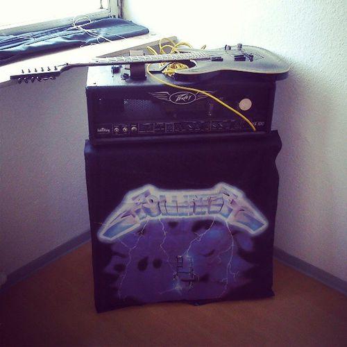 My baby! Guitar Amp Peavey LTD horizon ltdhorizon oldschoolmetallicaridethelightningflagcoversmymarshallbox