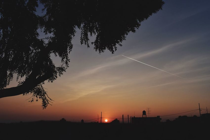 Y si amanece por fin Amanecer Sky Sunset Tree Silhouette Plant Nature Beauty In Nature Scenics - Nature Orange Color Cloud - Sky Built Structure Building Exterior Tranquil Scene No People Land Architecture Dusk Outdoors Tranquility Sun