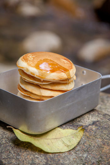 Close-Up Of Pancakes In Tray