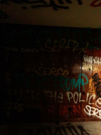 darkness and light Dark Art Graffiti Text Communication No People Indoors  Day Close-up