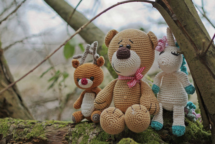 Happy Valentin's Day! No People Stuffed Toy Toy Häkeln Crochet Crochetlove Outdoors Nature Natur Valentine's Day  Valentinstag Teddy Unicorn Einhorn Rudolf
