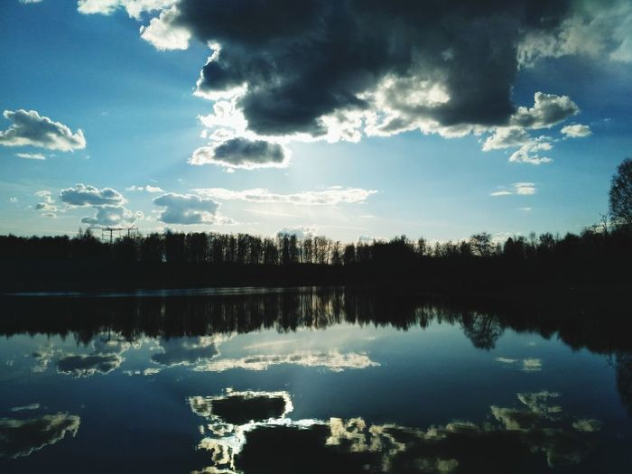 Reflection Lake Tree Sky Cloud - Sky Nature Scenics No People Beauty In Nature Tranquility Outdoors Water Day