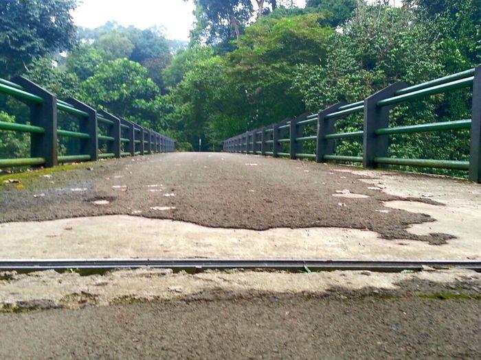Roadway Crossing The Bridge Roadway Wide Route