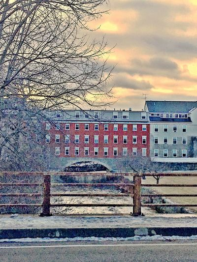 C Old Mill  Water River Canal Landscape Traveling Home For The Holidays Rural America Winter Snow Let's Go. Together. Shades Of Winter
