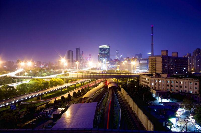 Cityscapes 傍晚 城市 蓝 City