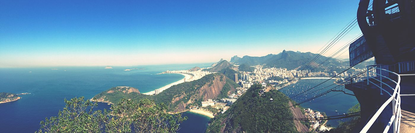 Citius, altius, fortius Rio 2016 Sugarloaf Riodejaneiro Panorama Panoramic Photography Cable Railway Copacabana Horizon RePicture Travel EyeEm Best Shots - Landscape The Traveler - 2015 EyeEm Awards