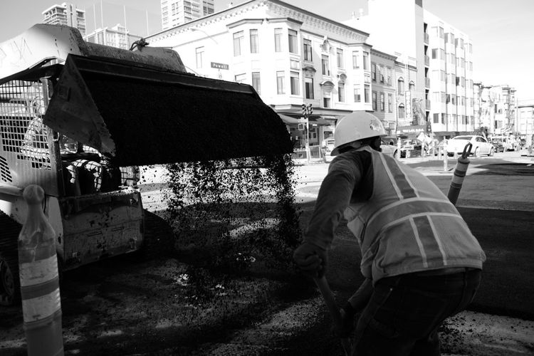 work hard Blackandwhite Photography Bnw Monochrome Leica CL Streetphotography Low Section City Politics And Government Men Sky Architecture Building Exterior Built Structure