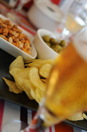 Appetizer Chips Caña Cold Beer 43 Golden Moments