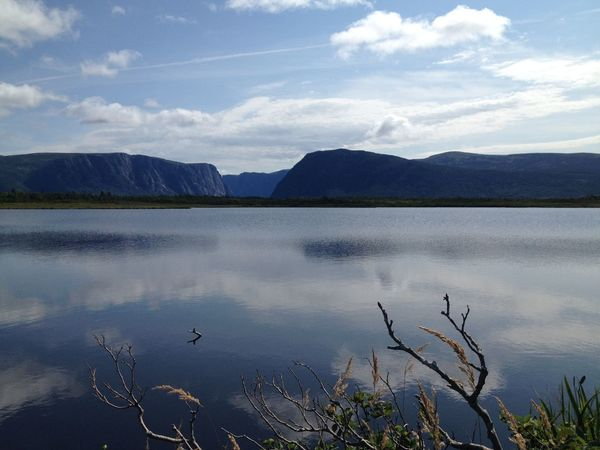 Beauty In Nature Day Gros Morne National Park Lake Landscape Mountain Nature Newfoundland, Canada No People Outdoors Reflection Reflections Scenics Travel Water Western Brook Pond Wilderness First Eyeem Photo