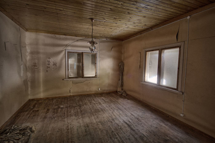 Deserted house interior with some interesting details. Abandoned Bad Condition Ceiling Damaged Decay Decaying Building Deserted Deserted House Deserted Houses Deterioration Flooring Hardwood Floor Home Home Interior House Indoors  Indoors  Interior No People Obsolete Old Weathered Window