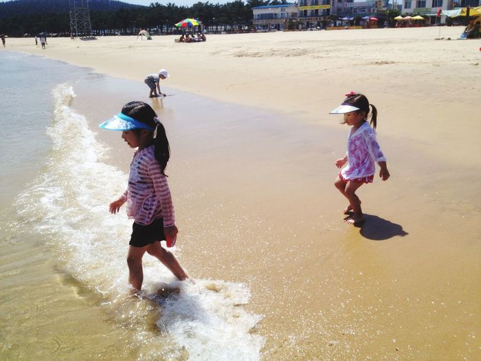 My daughters. Sea Sunshine Swimming