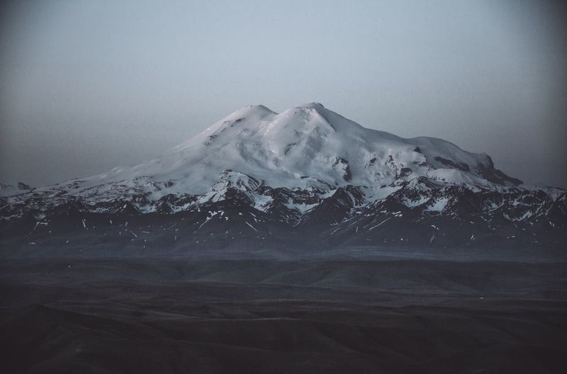 Elbrus at night. We've got a full moon, so we could see the mount properly, like during day time, but moon light made it look mystic. Russia россия Caucasus Кавказ Mountains Volcano Nature Nature_collection Mystic Travel Traveling Travel Photography