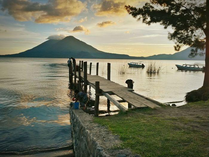 Sunset Lake Atitlán Panajachel  Lake View