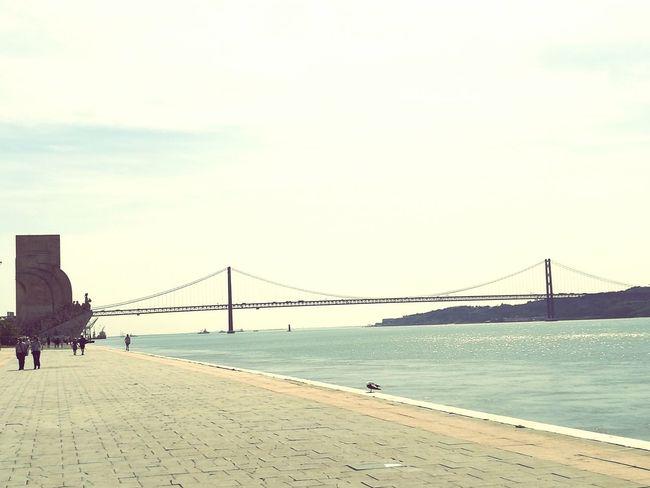 Lisbonlovers, Lisbon Sunny Day Ponte 25 De Abril Padrão Dos Descobrimentos Belém River Tejo River Tejo Bridge Rio Tejo Lisboa