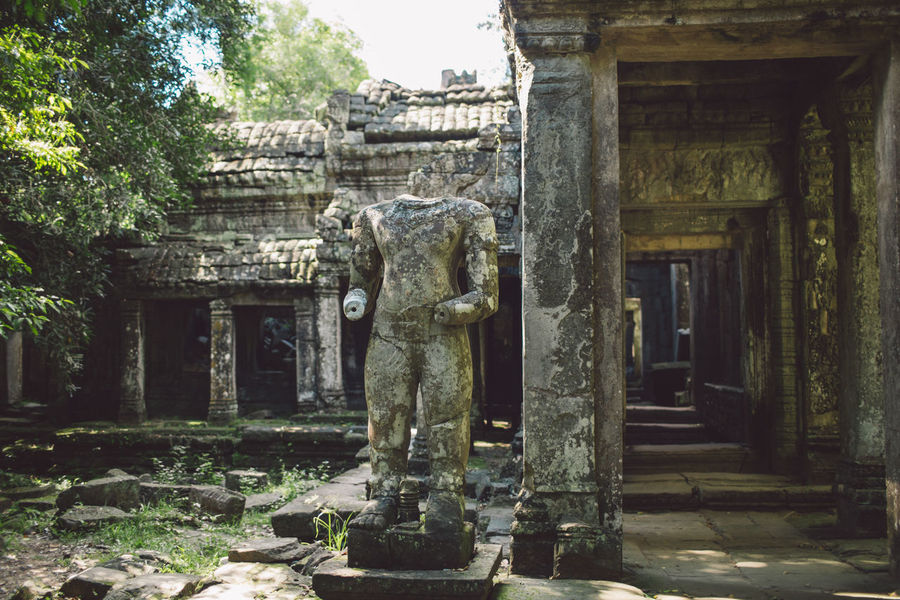 Siem Reap Cambodia Angkor Architecture Art And Craft Sculpture History The Past Statue Built Structure Representation Religion Belief Ancient Place Of Worship Building Spirituality Craft Old Architectural Column Human Representation Creativity No People Ancient Civilization Archaeology Ruined Carving