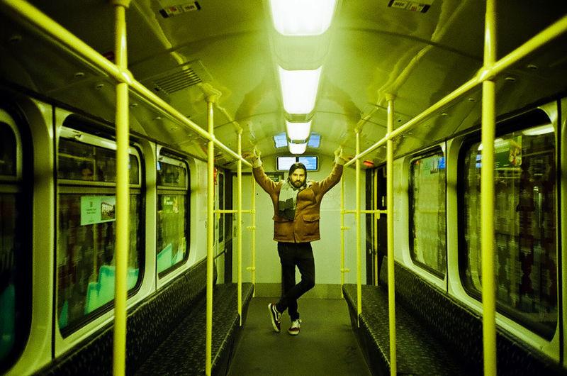 Man standing at train
