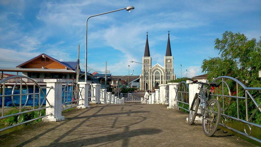 #bicycle #bridge #community #old Community #sky #temple #travel #view