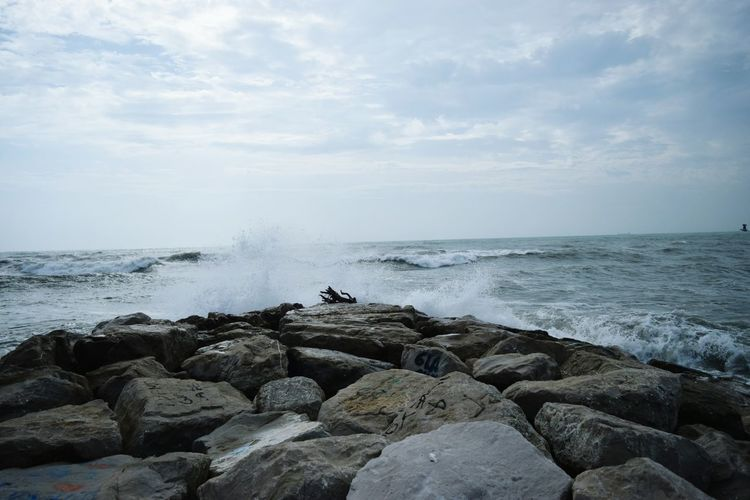 Sea Rock - Object Water Beach Nature Beauty In Nature Horizon Over Water An Eye For Travel