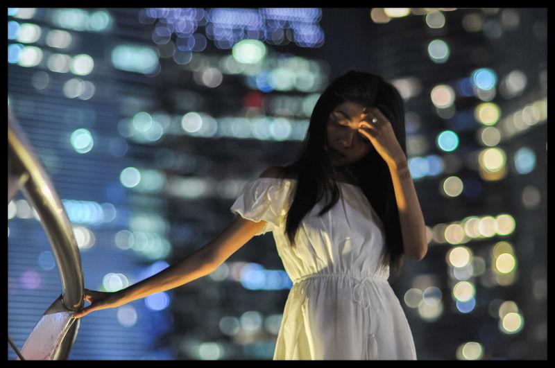 EyeEm Selects Humansofsingapore Outdoors Close-up Urban Skyline Illuminated Night Bokeh Photography Portrait Skyscraper Building Exterior