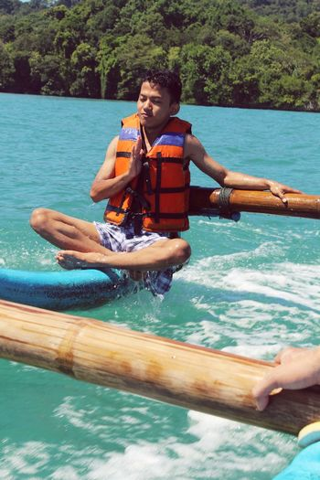 Relax take it a easy, i love indonesia Nature Adventure Water Kayak Beach INDONESIA Pangandaran Beach Summer Sea Happiness Sand Fun First Eyeem Photo Photography Photographer Relax Relaxation Moments