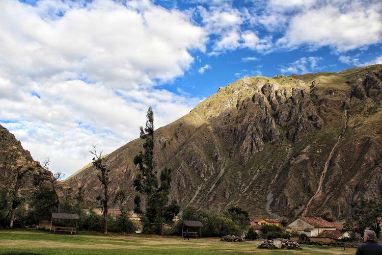 Andean landscape. Ancient Civilization Mountain Tree Sky Architecture Grass Cloud - Sky Landscape