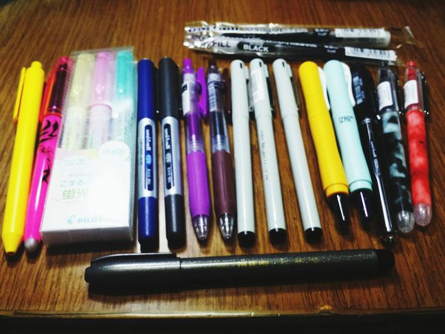 My goal is to use them up!Come!It 's high time to study hard💪 Pen Stationery School Life  Juniorhighschool Hardwork