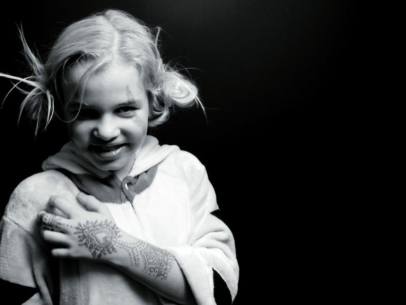 Blond Hair Black Background Child One Girl Only Children Only One Person Smiling Portrait Day EyeEmNewHere Be. Ready. Dancing Around The World Mahendi Mahendi... Colors Of Sankt-Peterburg Sankt-Petersburg Russia Daughter Black Friday 2017 Black & White Black And White Friday