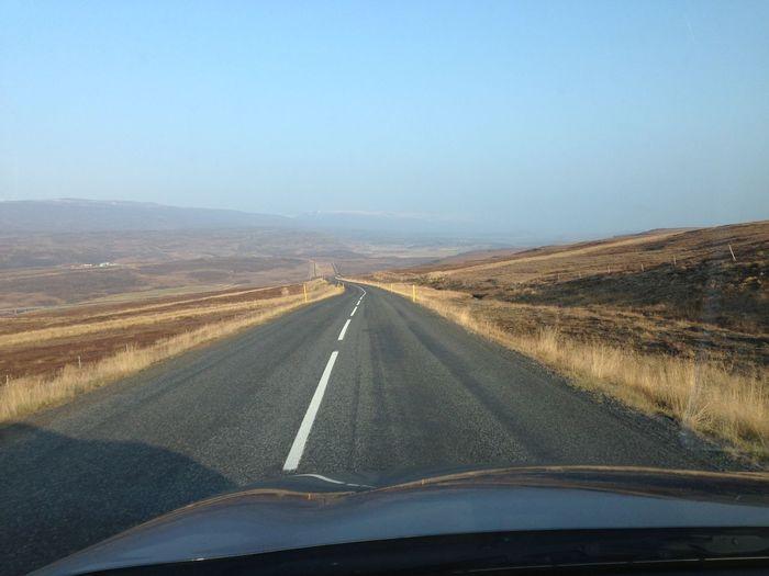 Drive Europe Iceland Landscape Nature Road Travel Trip