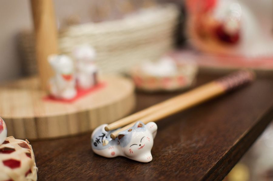 Fortune Cat Luck Taiwan Close-up Figurine  Manekineko Still Life Table Maneki-neko Decoration EyeEm Gallery