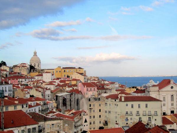 RoofTop View Cloud Cloud - Sky Lisbon Outdoors Residential District Roof Rooftop Rooftop View  Sky Town
