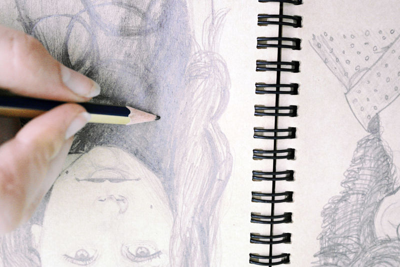 Adult Art Close-up Day Drawing Human Body Part Human Hand Indoors  Nature Notebook One Person People Spiral Notebook