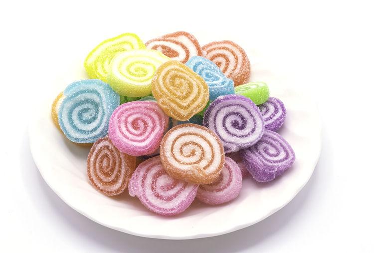 Close-up of multi colored cake