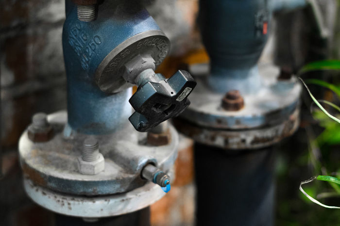 Blue Close-up Day Faucet Flappy Bird Industrial Macro Metal Metal Industry No People Outdoors Pipe Rust Security Stop Tube Valve Water