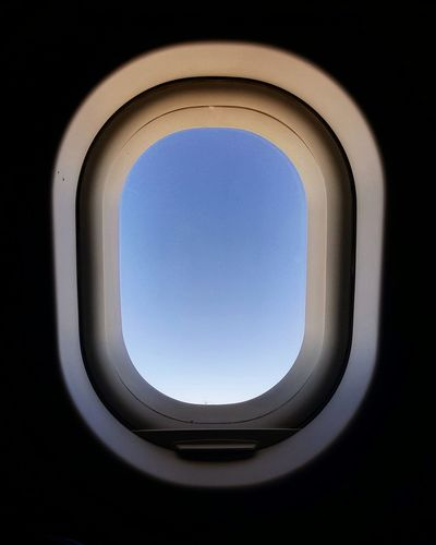 Airplane Vehicle Interior Window Air Vehicle Transportation Mode Of Transport Commercial Airplane Flying Mid-air No People Indoors  Full Frame Day Close-up Sky The Week On EyeEm