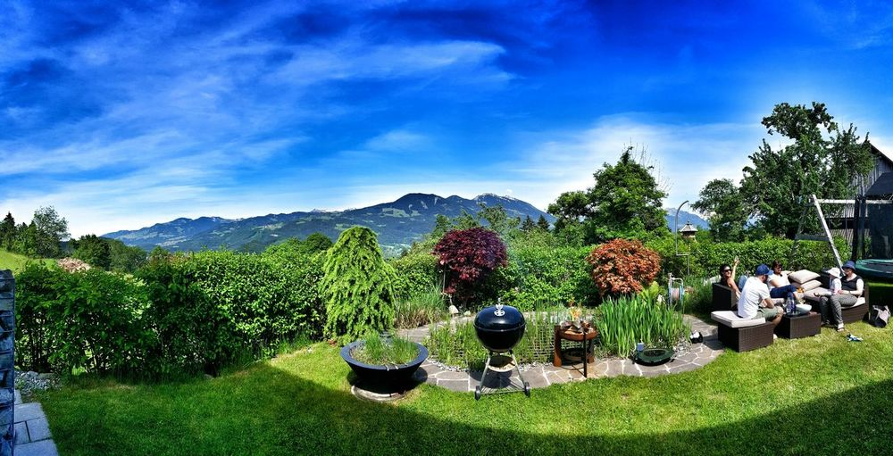Home Is Where The Art Is Nofilter ILoveMyHome Homeiswherefamilyis Samsungphotography Nature Summerfeeling Spending Time With Family Lunchtime Barbeque Friends Family Blue Sky Mountains Natur EyeEm Goodlife Happy People Horizon