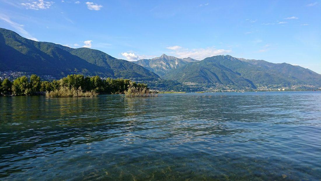 Lago Maggiore Switzerland Lago Maggiore Lake Ripples Water Mountain Summer Calm Tranquil Scene