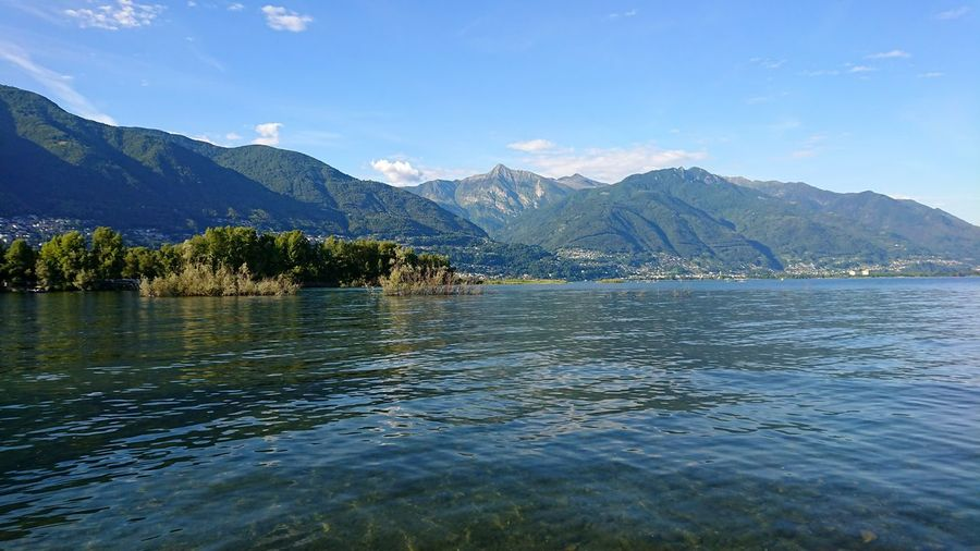 Lago Maggiore Switzerland Lago Maggiore Lake Ripples Water Mountain Summer Calm Tranquil Scene