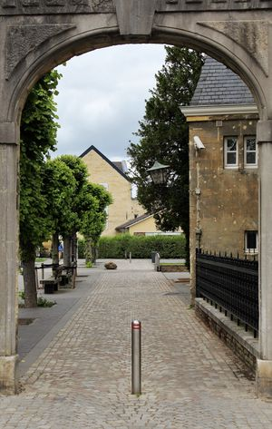 See What I See South Limburg The Netherlands View Walking Around Taking Pictures Arch Architecture Building Building Exterior Built Structure Cloud - Sky Day Direction Entrance Gate House Nature No People Outdoors Plant Residential District Sky The Way Forward Tree Valkenburg Aan De Geul