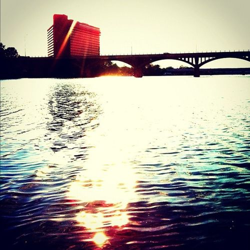 Townlake Ladybirdlake Austin ATx congressbridge sunset summer sun