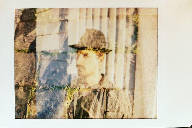 Bence Zsin, hungarian fine artist, musician and art teacher Outdoors One Man Only One Person Double Explosure Leicaphoto Leicasofort Hektorlens Googlescan Fujifilminstaxmini Multiexposure  Filmisnotdead