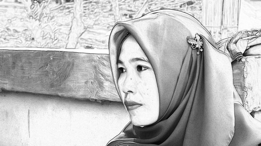My Wife Sketch Blackandwhite Black And White