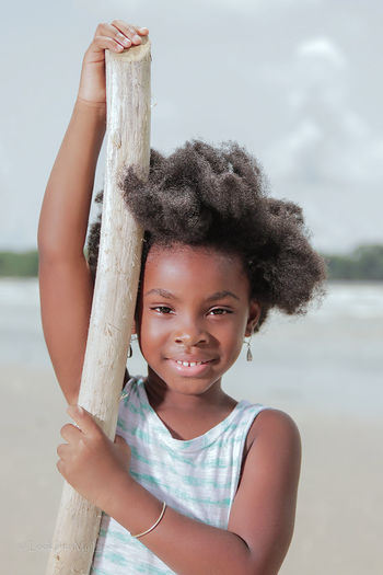 Adorable little girl on the beach in Trinidad Portrait Outdoors People Girls Child Lookintomyeyes African Beauty Blackisbeautiful Sounds Of Blackness Caribbean Trinidad And Tobago Street Photography Afro Beautiful