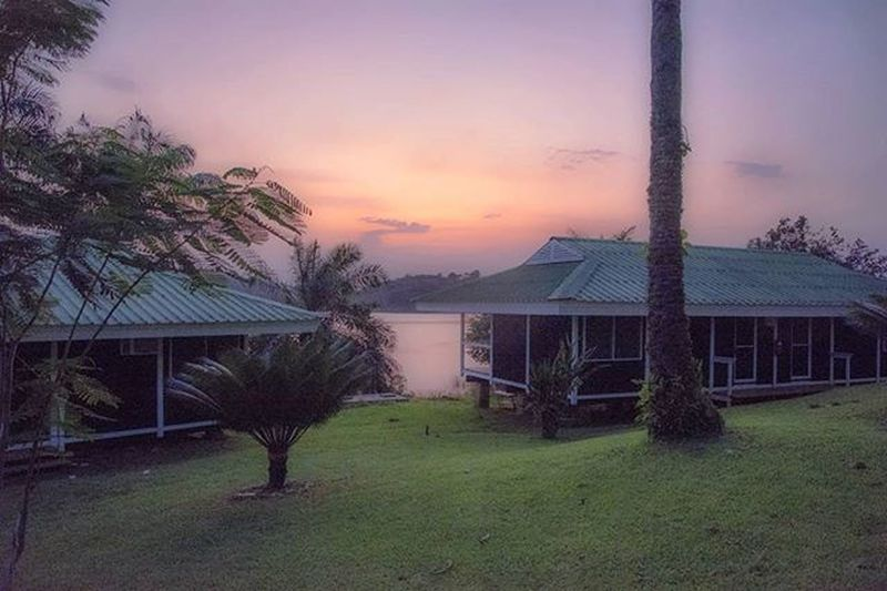 Sometimes, you just turn off the television and disconnect from WiFi. Africa Gabon Visiterlafrique Real Therevolutionwillnotbetelevised Green Nature Crépuscule Travel Lodge River Bagpack Sun Sungod Beautiful