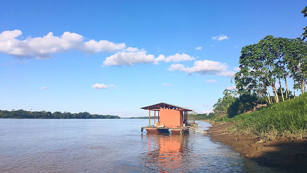 Puerto Acosta. Peru Traveling Travel Home Landscape River Tambopata River Puerto Maldonado Amazon Tambopata Water Sky Cloud - Sky Built Structure Architecture Nature Tree Waterfront Beauty In Nature No People Building Tranquility Scenics - Nature Outdoors