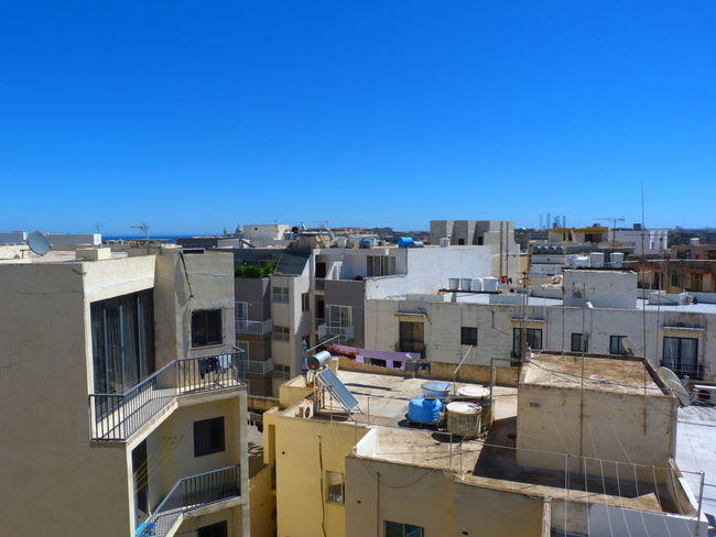Malta Mediterranean  Msida Roof Roofs Of Malta Architecture Blue Building Building Exterior Built Structure City Clear Sky Copy Space Day Residential District Roofs Sky Sunlight