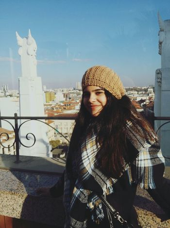 Winter Madrid View Girl Autumn Day