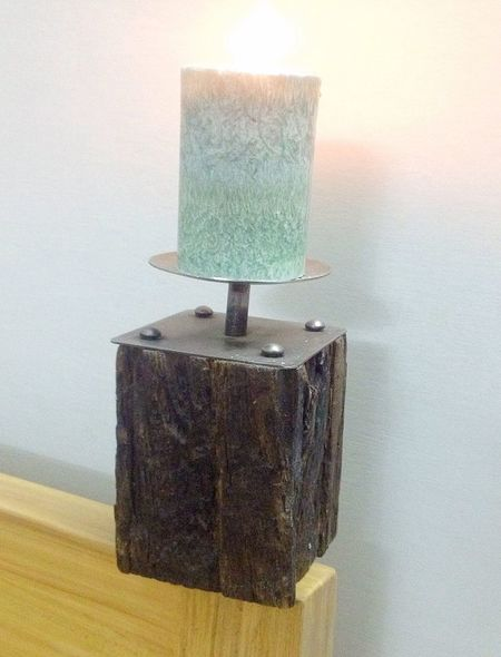 Check This Out Candle Candle Stand Cheese! Candlelight Wooden
