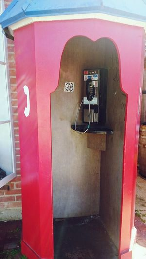 Phonebooth, phone Communication Day No People Red Outdoors Pay Phone