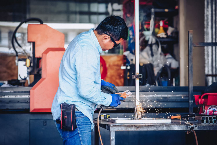 Man working in factory
